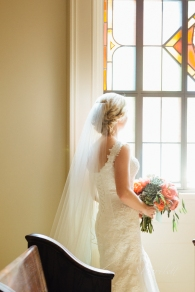 Bride at Church, wedding in louisville
