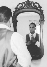 Louisville Wedding, groom getting ready